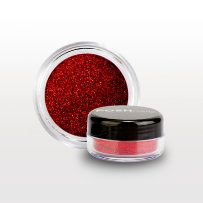 Posh Nailz Glitter in Ruby Slipper www.poshnailz.co.uk