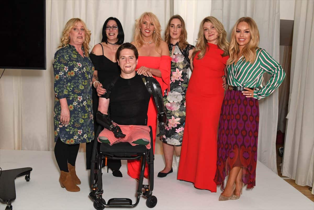 Front: Alex Lewis. Back L-R: Diana Armstrong, Tracy Dickinson, Karen Betts, Sophie Harris, Carly Barrett and Katie Piper.